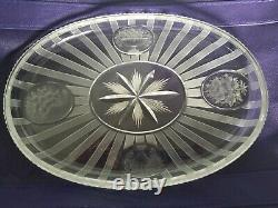 HAWKES Sheraton Millicent Cut Glass Plate Server 10 Signed Rare