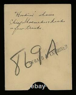 Harry Houdini 1926 Magician Original Glass Plate Photo Negative Crystal Clear