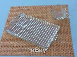Hazel Atlas Glass Luncheon Snack plates (13) and cups (16)