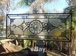 Heisey Colonial Depression Glass Stained Glass Plate Panel, Handmade Vintage Art