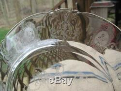 Heisey Minuet Toujour Etching Dinner Plates 10 1/4 inch Set of 8
