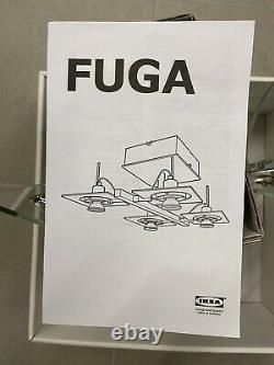 IKEA FUGA 4 way Ceiling spotlights, chrome plated, clear glass