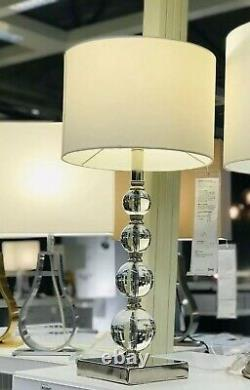 IKEA ROXMO Table Lamp Modern 28 Nickel plated, Clear lacquer DECORATION GLASS