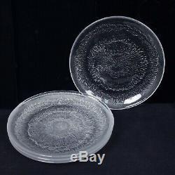 Iittala Finland Tapio Wirkkala Solaris Set 4 Art Glass Luncheon Plates Orig Box