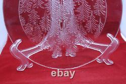 Iittala Finland kuusi Large Glass Platter Plate Tree 30 cm 11 3/4 Jorma Vennola