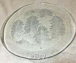 Iittala Kuusi Finland by Jorma Vennola serving platter plate Fir pine Glass