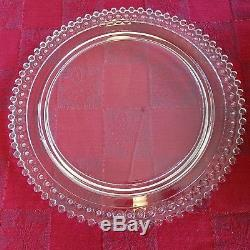 Imperial Glass Candlewick 13.38 birthday cake plate with72 candle holes built in