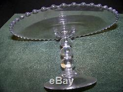 Imperial Glass Ohio CANDLEWICK CLEAR Cake Stand Pedistal Cake Plate