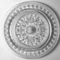 Imperial Glass Ohio CAPE COD CLEAR (#1602 & #160) Birthday Cake Plate 236625