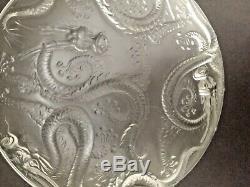 JOSEF INWARD Rare Barolac 14 Dragon Platter/Plate / Charger CZECH glass VINTAGE