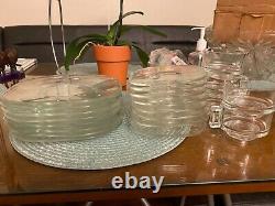 Joe colombo, glass, glassware, dinnerware, plates, cups, mid-century, vintage