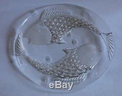 Josef Svarc large plate, Czech / Czechoslovakia Art glass