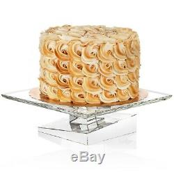 JoyJolt Carre Cake Plate, 10 Square Cake Holder