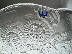 KOSTA BODA Vintage Cast Studio Glass Cabinet Plate Sweden Circa 1980's