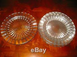Kosta Boda Wahlstrom COSMOS SALAD PLATE 7.5 inch W- CLEAR Radiating Lines 4 Pc