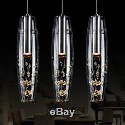 LED Chandelier Crystal Kitchen Island Lamp Bar Pendant Light Modern Ceiling Lamp
