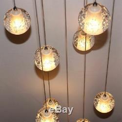 LED G4 Bulbs K9 Crystal Chandelier Modern Staircase Light Glass Pendant Lamp
