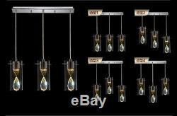 LED K9 Crystal Ceiling Lamp Dining Room Chandelier Lighting Modern Pendant Light