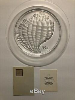 LOT of 6 Lalique France Crystal Annual Collector Plate 69, 70, 72, 73, 74, 76