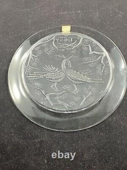 Lalique Crystal Annual Plate 1965 Deux Oiseaux Two Birds