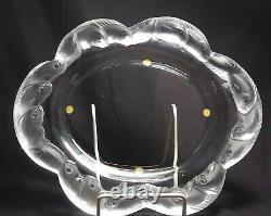 Lalique Crystal Art Deco 10 3/4 Piriac Coupe Plate Tray Koi Fish France