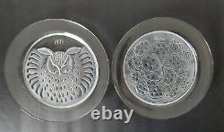 Lalique Crystal Vintage Annual Collector Plates Set Of (6) 1971-1976 France