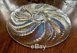 Lalique Fleurons Opalescent Plate #10-3043 Excellent Condition Signed R Lalique