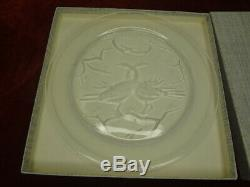 Lalique France Crystal Annual Collector Plate 1965 Duex Oiseaux