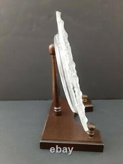 Lalique, France, Honfleur Crystal Decorative Plate 11