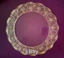 Lalique Honfleur Crystal France Dinner Plate 10 7/8 Inch