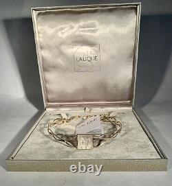 Lalique-Masque de Femme-Crystal-3 Micron Gold Plated Choker Necklace-Vintage