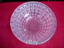 Lalique Nemours Centerpiece Bowl Plate Art Deco Nouveau Glass Modern Style Vase
