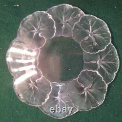 Lalique Small Plate Honfleur Begona Leaves 5 7/8 Across