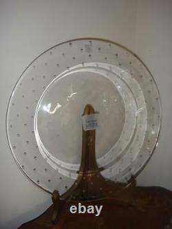 Lenox Kate Spade Larabee Dot 12inch Round Crystal Cake Plate New In Box