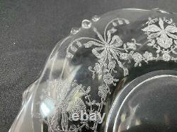 Lot of 20 Pieces Heisey ORCHID Floral Etched Plates, Goblets, Sherbet