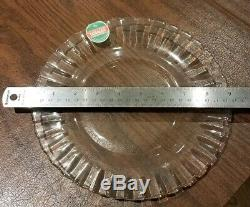 Lot of 24 Vintage Duralex Made In France 9 Inch Clear Plates Brand New