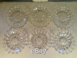 Lot of 6 EAPG Broken Column Pattern Glass 8 1/4 Plates