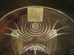 Lovely Vintage Lalique Crystal Crescent Salad / Side Plate
