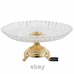 Matashi 24K Gold Plated Tabletop Decorative Dish Serving Platter Gift For Mom