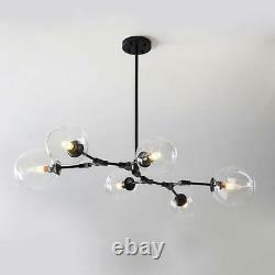 Modern 6 Light Glass Chandeliers Pendant Lamp Tree Branch Ceiling Fixtures