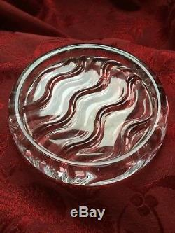NEW NWB FLAWLESS Stunning BACCARAT Crystal WAVE Bottle COASTER DISH TRIVET PLATE