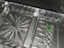 NEW Waterford Crystal Lismore Serving Dish Tray and 12 Used Lismore Cake Plate