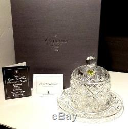 NEW Waterford Society Crystal SAMUEL MILLER (2000) Covered Dessert Dome Signed
