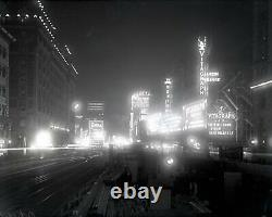 NYC Times Square 1914 Original Glass Plate Photo Negative Crystal Clear