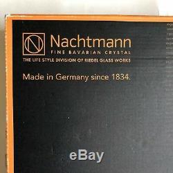 Nachtmann Samba Dinner Plate Clear Crystal Set of 2 Modern Home Dining Germany