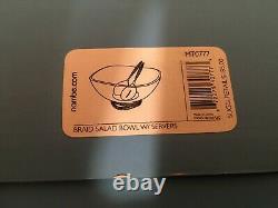 Nambe Braid Glass Salad Bowl with Servers MT0777