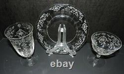 Navarre Clear By Fostoria 3 Pc Salad Setting For 4 (12 Pieces Toal)