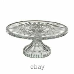 New Waterford Crystal Lismore Footed Cake Plate Stand