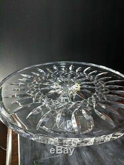 New Waterford Crystal Lismore Footed Pedestal Cake Plate Stand/Server 11 Dia