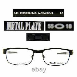 Oakley METAL PLATE OX5038-0555 Matte Black Titanium Eyeglasses 55/18/140 New